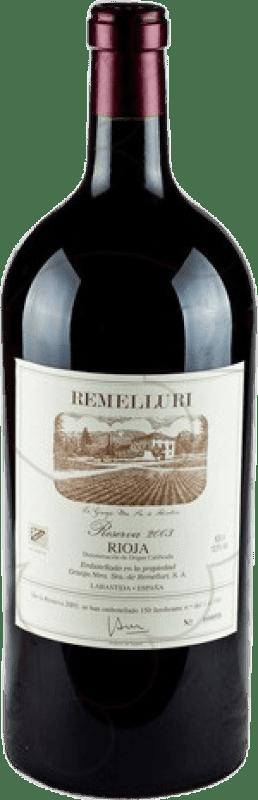403,95 € Free Shipping | Red wine Ntra. Sra de Remelluri Reserva 2009 D.O.Ca. Rioja The Rioja Spain Tempranillo, Grenache, Graciano Special Bottle 5 L