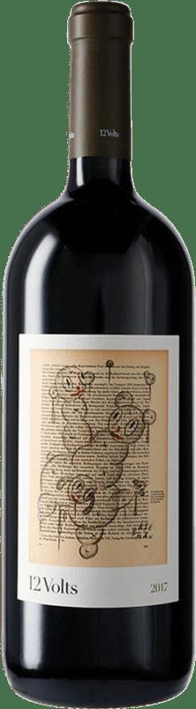 37,95 € Envío gratis | Vino tinto 4 Kilos 12 Volts I.G.P. Vi de la Terra de Mallorca Mallorca España Merlot, Syrah, Cabernet Sauvignon, Callet, Fogoneu Botella Mágnum 1,5 L