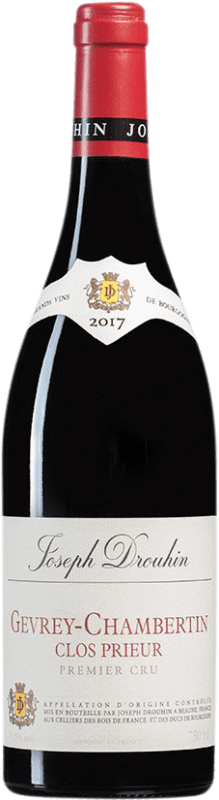 154,95 € Free Shipping | Red wine Drouhin 1er Cru Clos Prieur A.O.C. Gevrey-Chambertin Burgundy France Pinot Black Bottle 75 cl