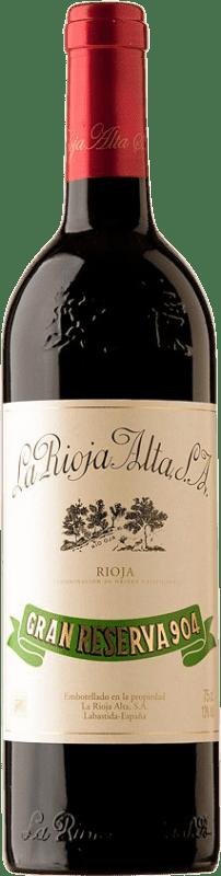 151,95 € Free Shipping | Red wine Rioja Alta 904 Gran Reserva 1982 D.O.Ca. Rioja Spain Tempranillo Bottle 75 cl