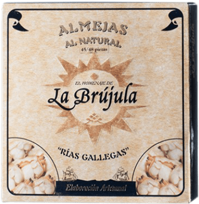 43,95 € Free Shipping | Conservas de Marisco La Brújula Almeja al Natural Spain 45/50 Pieces