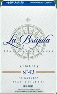 39,95 € | Conservas de Marisco La Brújula Almejas al Natural Reserva Spain 10/12 Pieces
