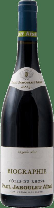 11,95 € | Red wine Jaboulet Aîné Biographie A.O.C. Côtes du Rhône France Syrah, Grenache, Mourvèdre Bottle 75 cl