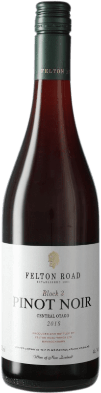 108,95 € Free Shipping | Red wine Felton Road Block 3 I.G. Central Otago Central Otago New Zealand Pinot Black Bottle 75 cl