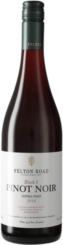 108,95 € Free Shipping | Red wine Felton Road Block 5 I.G. Central Otago Central Otago New Zealand Pinot Black Bottle 75 cl