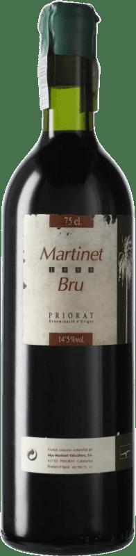58,95 € Free Shipping | Red wine Mas Martinet Bru 1999 D.O.Ca. Priorat Catalonia Spain Syrah, Grenache Bottle 75 cl