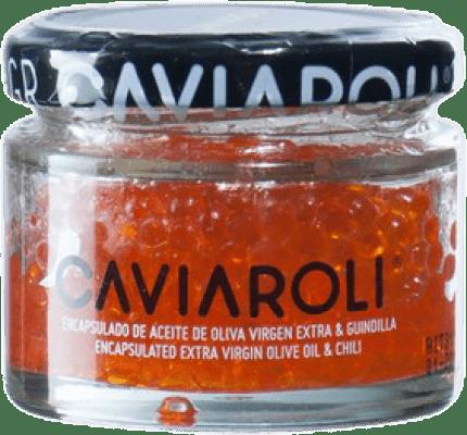 11,95 € Free Shipping | Conservas Vegetales Caviaroli Caviar de Aceite de Oliva Virgen Extra Encapsulado con Guindilla Spain