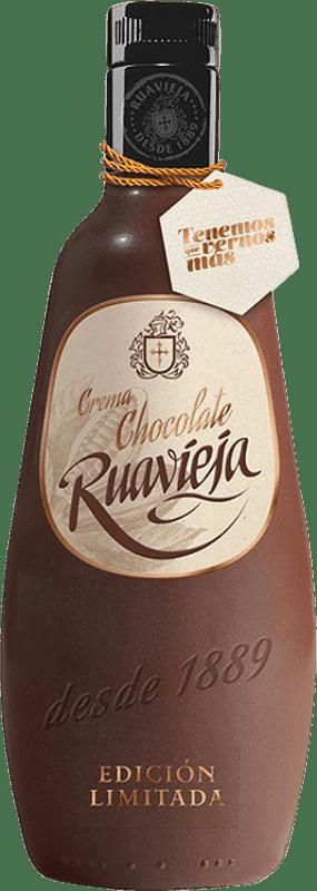 13,95 € Free Shipping | Liqueur Cream Rua Vieja Ruavieja Chocolate Galicia Spain Bottle 70 cl
