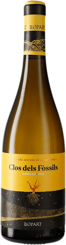 9,95 € Free Shipping | White wine Llopart Clos dels Fòssils D.O. Penedès Catalonia Spain Chardonnay Bottle 75 cl