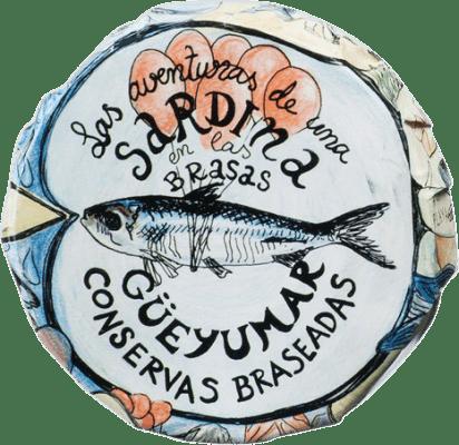 11,95 € Free Shipping | Conservas de Pescado Güeyu Mar Colas de Sardina Principality of Asturias Spain