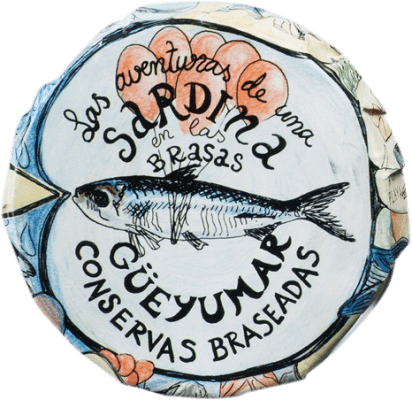 11,95 € 免费送货 | Conservas de Pescado Güeyu Mar Colas de Sardina 阿斯图里亚斯公国 西班牙