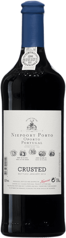 23,95 € Free Shipping | Red wine Niepoort Crusted I.G. Porto Porto Portugal Touriga Franca, Touriga Nacional, Tinta Roriz Bottle 75 cl