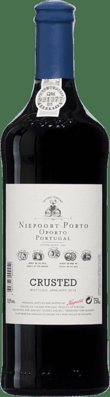 23,95 € Envío gratis | Vino tinto Niepoort Crusted I.G. Porto Porto Portugal Touriga Franca, Touriga Nacional, Tinta Roriz Botella 75 cl