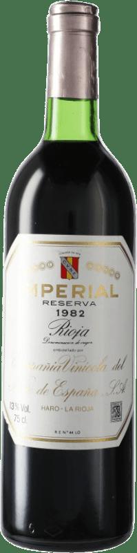 147,95 € Envío gratis | Vino tinto Norte de España - CVNE Cune Imperial Reserva 1982 D.O.Ca. Rioja España Botella 75 cl