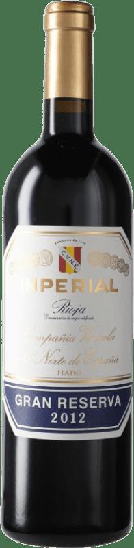 47,95 € Envoi gratuit | Vin rouge Norte de España - CVNE Cune Imperial Gran Reserva D.O.Ca. Rioja Espagne Tempranillo, Graciano, Mazuelo Bouteille 75 cl