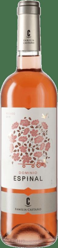 5,95 € Envío gratis | Vino rosado Castaño Dominio de Espinal D.O. Yecla España Monastrell Botella 75 cl