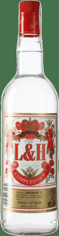 6,95 € Envío gratis | Vodka LH La Huertana Emisario España Botella 70 cl