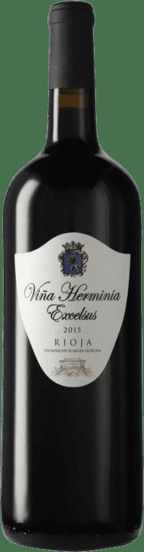 23,95 € Envío gratis | Vino tinto Viña Herminia Excelsus D.O.Ca. Rioja España Tempranillo, Garnacha Botella Mágnum 1,5 L