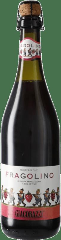 5,95 € 免费送货 | 红汽酒 Giacobazzi Fragolino 意大利 Lambrusco 瓶子 75 cl