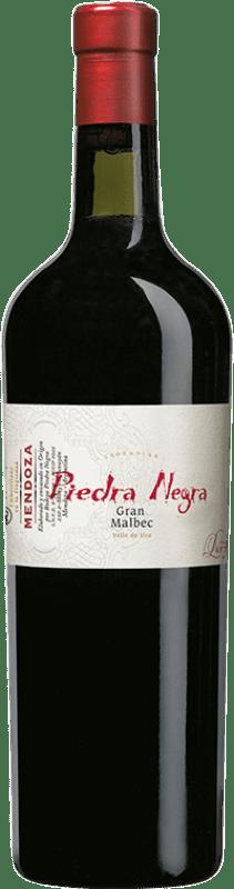 34,95 € Envío gratis | Vino tinto Piedra Negra Gran Piedra Negra I.G. Mendoza Mendoza Argentina Malbec Botella 75 cl