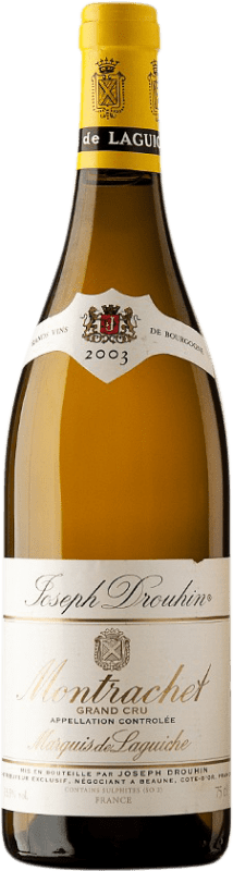 584,95 € Free Shipping | White wine Drouhin Grand Cru Marquis de Laguiche 2003 A.O.C. Montrachet Burgundy France Chardonnay Bottle 75 cl