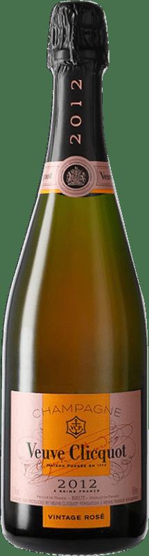 83,95 € Free Shipping | Rosé sparkling Veuve Clicquot Grand Rosé Vintage A.O.C. Champagne Champagne France Pinot Black, Chardonnay, Pinot Meunier Bottle 75 cl