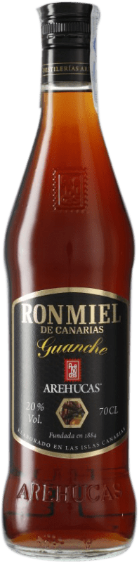 9,95 € Free Shipping | Rum Arehucas Guanche Ron Miel Canary Islands Spain Bottle 70 cl