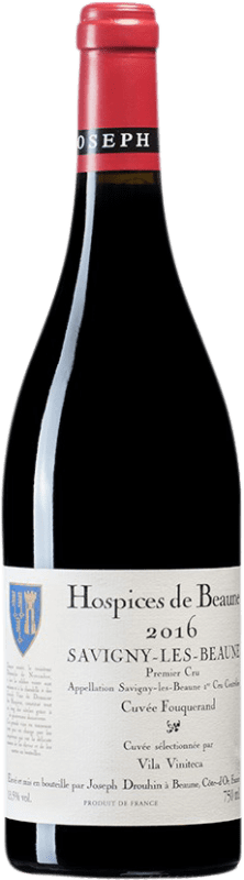 82,95 € Free Shipping | Red wine Drouhin Hospices de Beaune 1er Cru Cuvée Fouquerand A.O.C. Savigny-lès-Beaune Burgundy France Pinot Black Bottle 75 cl