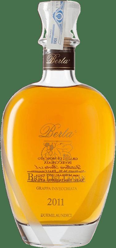 152,95 € Free Shipping   Grappa Berta Invecchiata Gaian Moscato D.O.C. Piedmont Piemonte Italy Muscatel Bottle 70 cl