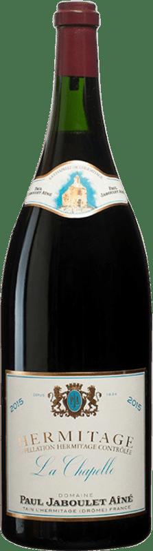 1 419,95 € Envío gratis | Vino tinto Jaboulet Aîné La Chapelle A.O.C. Hermitage Francia Syrah Botella Jéroboam-Doble Mágnum 3 L