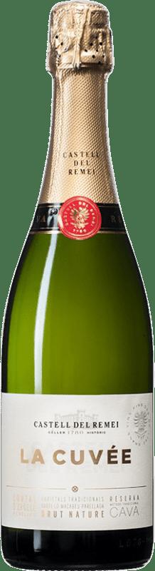 9,95 € 免费送货 | 白起泡酒 Castell del Remei La Cuvée Brut Nature D.O. Cava 西班牙 Macabeo, Xarel·lo, Parellada 瓶子 75 cl
