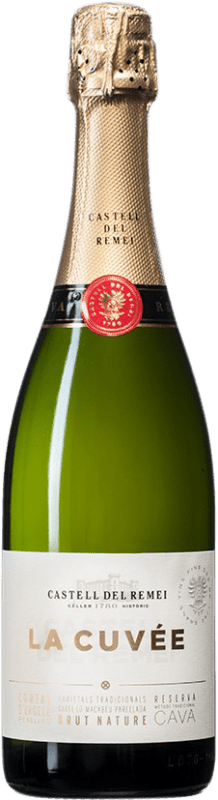 9,95 € Free Shipping | White sparkling Castell del Remei La Cuvée Brut Nature D.O. Cava Spain Macabeo, Xarel·lo, Parellada Bottle 75 cl