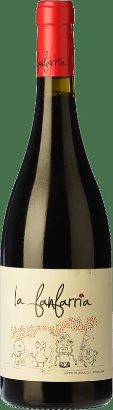 11,95 € Free Shipping | Red wine Dominio del Urogallo La Fanfarria Principality of Asturias Spain Mencía, Albarín Black Bottle 75 cl