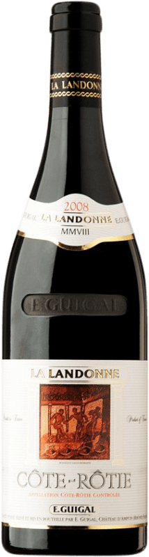 314,95 € Free Shipping | Red wine Domaine E. Guigal La Landonne 2008 A.O.C. Côte-Rôtie France Syrah Bottle 75 cl