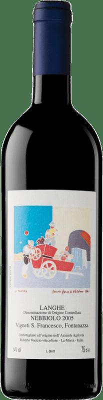 136,95 € Free Shipping | Red wine Roberto Voerzio Langhe Fontanazza 2005 D.O.C. Langhe Piemonte Italy Merlot Bottle 75 cl