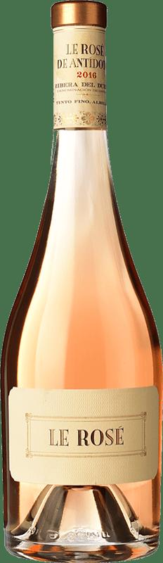 54,95 € Envío gratis | Vino rosado Hernando & Sourdais Le Rosé de Antídoto D.O. Ribera del Duero Castilla y León España Tempranillo, Garnacha, Albillo Botella 75 cl
