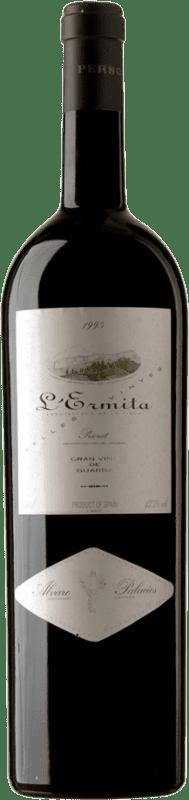 4 669,95 € Envío gratis | Vino tinto Álvaro Palacios L'Ermita 1995 D.O.Ca. Priorat Cataluña España Garnacha, Cabernet Sauvignon Botella Jéroboam-Doble Mágnum 3 L