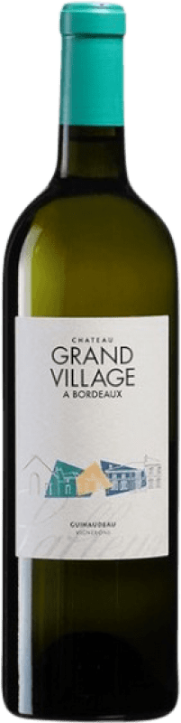 21,95 € Free Shipping | White wine Château Grand Village A.O.C. Bordeaux Bordeaux France Sauvignon White, Sémillon Bottle 75 cl