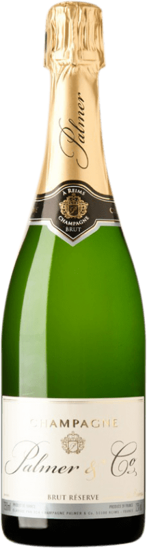 35,95 € | White sparkling Château Palmer Brut Reserva A.O.C. Champagne Champagne France Pinot Black, Chardonnay, Pinot Meunier Bottle 75 cl