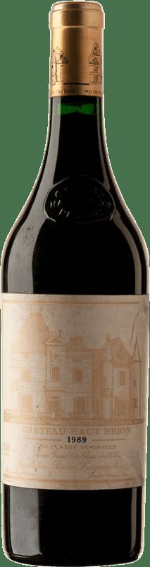 2 957,95 € Free Shipping | Red wine Château Haut-Brion 1989 A.O.C. Pessac-Léognan Bordeaux France Merlot, Cabernet Sauvignon, Cabernet Franc Bottle 75 cl
