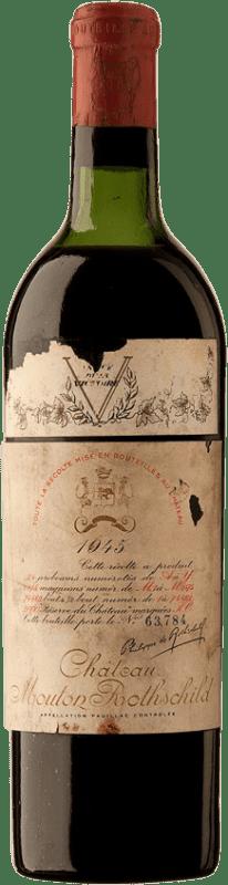 11 384,95 € | Red wine Château Mouton-Rothschild 1945 A.O.C. Pauillac Bordeaux France Merlot, Cabernet Sauvignon, Cabernet Franc Bottle 75 cl