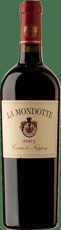 393,95 € Free Shipping | Red wine La Mondotte 2003 A.O.C. Saint-Émilion Bordeaux France Merlot, Cabernet Franc Bottle 75 cl