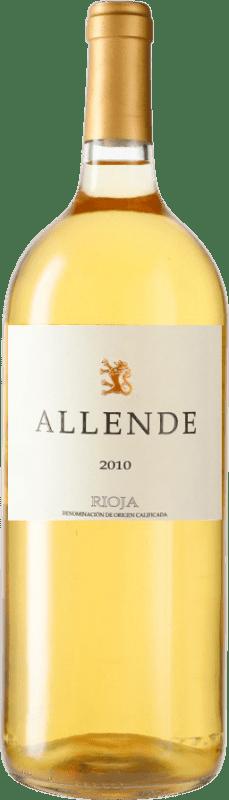 72,95 € Envío gratis | Vino blanco Allende 2010 D.O.Ca. Rioja España Viura, Malvasía Botella Mágnum 1,5 L