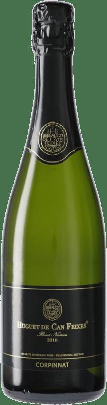 12,95 € Envío gratis | Espumoso blanco Huguet de Can Feixes Brut Nature Corpinnat España Pinot Negro, Macabeo, Parellada Botella 75 cl
