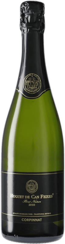 12,95 € Free Shipping | White sparkling Huguet de Can Feixes Brut Nature Corpinnat Spain Pinot Black, Macabeo, Parellada Bottle 75 cl