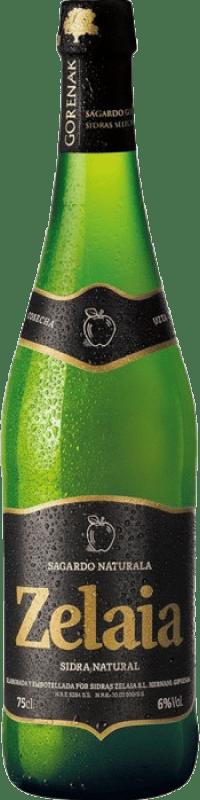 4,95 € 免费送货   苹果酒 Zelaia 西班牙 瓶子 75 cl