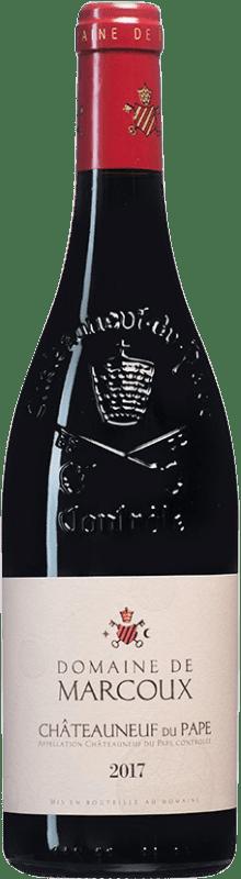 55,95 € Envío gratis | Vino tinto Domaine de Marcoux A.O.C. Châteauneuf-du-Pape Francia Syrah, Garnacha, Mourvèdre, Cinsault Botella 75 cl
