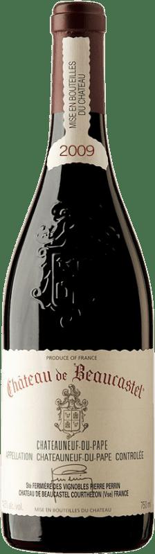 85,95 € Free Shipping | Red wine Château Beaucastel 2009 A.O.C. Châteauneuf-du-Pape France Syrah, Grenache, Mourvèdre Bottle 75 cl