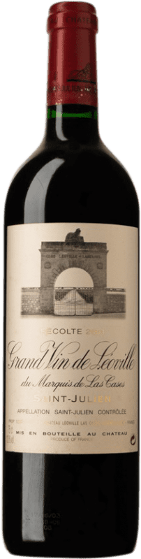 321,95 € Free Shipping | Red wine Château Léoville Las Cases 2001 A.O.C. Saint-Julien Bordeaux France Merlot, Cabernet Sauvignon, Cabernet Franc Bottle 75 cl