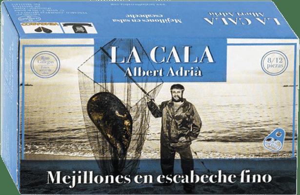 7,95 € Envoi gratuit | Conservas de Marisco La Cala Mejillón en Escabeche Espagne 8/12 Pièces